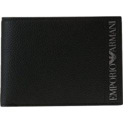 Emporio Armani FOLD WALLET Portfel nero. Czarne portfele męskie Emporio Armani. Za 379,00 zł.