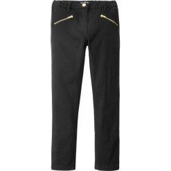 Spodnie SKINNY z dekoracyjnymi kieszeniami bonprix czarny. Czarne rurki dziewczęce bonprix. Za 44,99 zł.