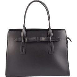 Torebki klasyczne damskie: Skórzana torebka w kolorze czarnym – 30 x 22 x 13 cm