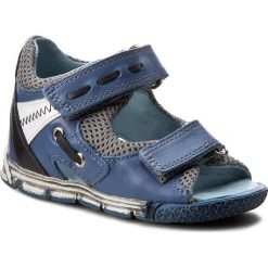 Sandały męskie skórzane: Sandały KORNECKI – 05187 Błękit/S