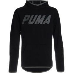 Puma TECH HOODY  Bluza z kapturem black. Czarne bluzy chłopięce rozpinane marki Puma, z bawełny, z kapturem. W wyprzedaży za 152,10 zł.