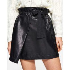 Spódniczki skórzane: Minispódnica z eco skóry - Czarny