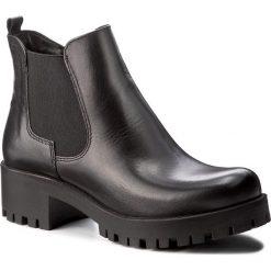 Botki TAMARIS - 1-25435-29 Black Leather 003. Szare botki damskie na obcasie marki Tamaris, z materiału. W wyprzedaży za 219,00 zł.