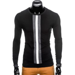 BLUZA MĘSKA BEZ KAPTURA B808 - CZARNA. Czarne bluzy męskie rozpinane Ombre Clothing, m, z bawełny, bez kaptura. Za 49,00 zł.
