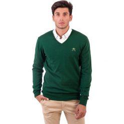 Swetry klasyczne męskie: Sweter w kolorze zielonym