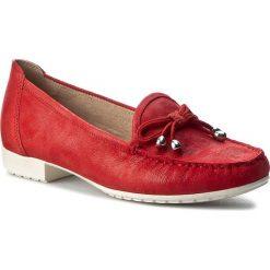 Mokasyny CAPRICE - 9-24610-28 Red Suede Comb 533. Czerwone mokasyny damskie Caprice, z materiału. W wyprzedaży za 219,00 zł.