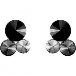 Kolczyki w kolorze srebrnym z Swarovski. Czarne kolczyki damskie Biżuteria z kryształkami Swarovski, z kryształem, srebrne. W wyprzedaży za 54,95 zł.