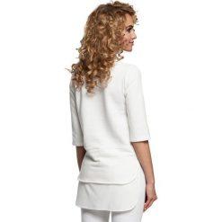 FABIENNE Bluzka dwuwarstwowa - ecru. Szare bluzki z odkrytymi ramionami Moe, z dzianiny. Za 99,00 zł.