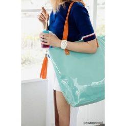 Torba Shopper Neon Mint Orange. Pomarańczowe shopper bag damskie Pakamera, z tkaniny, na ramię. Za 200,00 zł.
