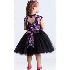 Sukienki dziewczęce dzianinowe: Sukienka balowa serce czarna