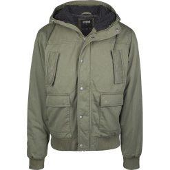 Urban Classics Hooded Cotton Jacket Kurtka zimowa oliwkowy. Niebieskie kurtki męskie zimowe marki Urban Classics, l, z okrągłym kołnierzem. Za 244,90 zł.