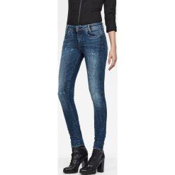 G-Star Raw - Jeansy. Niebieskie jeansy damskie marki G-Star RAW, z bawełny, z obniżonym stanem. W wyprzedaży za 359,90 zł.