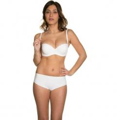 """Biustonosz """"Luna"""" w kolorze kremowym. Białe biustonosze z fiszbinami marki Mare, z haftami. W wyprzedaży za 136,95 zł."""