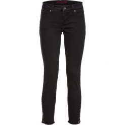 Dżinsy SKINNY z ćwiekami w dolnej części bonprix czarny denim. Niebieskie jeansy damskie skinny marki House, z jeansu. Za 109,99 zł.