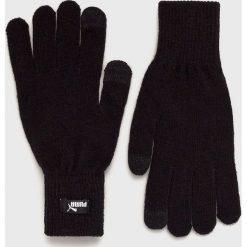 Puma - Rękawiczki. Czarne rękawiczki męskie Puma, z dzianiny. Za 79,90 zł.