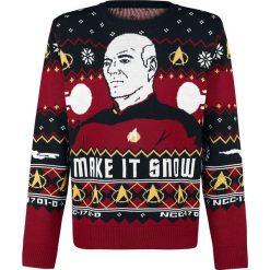 Star Trek Make It Snow Sweter wielokolorowy. Białe swetry klasyczne męskie Star Trek, xl, z okrągłym kołnierzem. Za 264,90 zł.