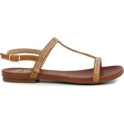 Rzymianki damskie: Sandały w kolorze cielistym