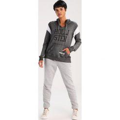 Bluzy rozpinane damskie: Hollister Co. SPORTY LOGO Bluza z kapturem grey