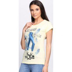Bluzki, topy, tuniki: Żółty T-shirt Style With Love