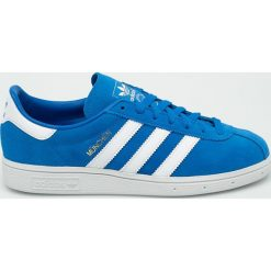 Adidas Originals - Buty Munchen. Szare buty sportowe męskie adidas Originals, z materiału. W wyprzedaży za 329,90 zł.