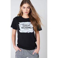 Cheap Monday T-shirt Breeze - Black. Czarne t-shirty damskie Cheap Monday, z nadrukiem, z okrągłym kołnierzem. Za 80,95 zł.