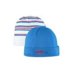 Czapeczki niemowlęce: pink or blue Czapka Baby Maritim 2 szt. kolor niebieski w paski