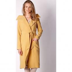 Płaszcz w kolorze żółtym. Zielone płaszcze damskie marki Last Past Now, xs, w paski. W wyprzedaży za 339,95 zł.