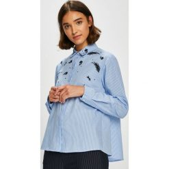 Silvian Heach - Koszula. Szare koszule damskie marki Silvian Heach, l, z haftami, z bawełny, casualowe, z klasycznym kołnierzykiem, z długim rękawem. W wyprzedaży za 279,90 zł.