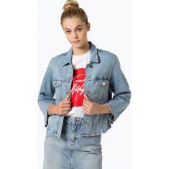Tommy Hilfiger - Damska kurtka jeansowa, niebieski. Niebieskie bomberki damskie TOMMY HILFIGER, z jeansu. Za 499,95 zł.