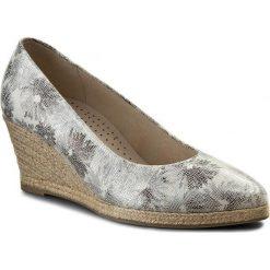 Espadryle damskie na koturnie: Espadryle GABOR - 44.420.41 Silber
