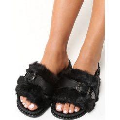 Chodaki damskie: Czarne Klapki Primrose