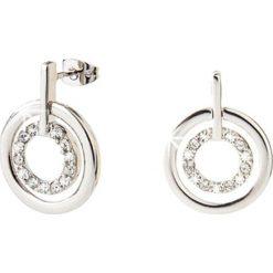 Kolczyki damskie: Srebrne kolczyki-wkrętki z kryształami Swarovski