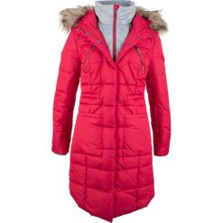 Płaszcz pikowany w optyce 2 w 1 bonprix czerwony. Czerwone płaszcze damskie pastelowe bonprix. Za 269,99 zł.