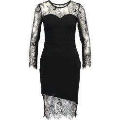 Sukienki: Dorothy Perkins ASYMMETRIC LACE HERM BODYCON Sukienka koktajlowa black