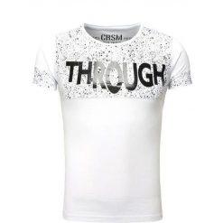 T-shirty męskie: CRSM T-shirt męski biały r. S (16012-1)