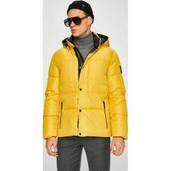 Calvin Klein - Kurtka puchowa. Brązowe kurtki męskie puchowe marki Calvin Klein, m, z materiału, z kapturem. Za 1149,00 zł.