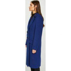 Answear - Płaszcz Watch Me. Niebieskie płaszcze damskie ANSWEAR, l, z elastanu. W wyprzedaży za 279,90 zł.