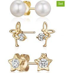 """Biżuteria i zegarki: Kolczyki-wkrętki (3 szt.) """"Enchanted"""" z kryształkami Swarovski"""