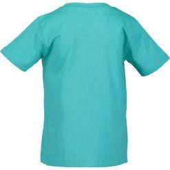 Blue Seven - T-shirt dziecięcy 92-128 cm. Niebieskie t-shirty chłopięce z nadrukiem marki Blue Seven, z bawełny, z okrągłym kołnierzem. W wyprzedaży za 39,90 zł.