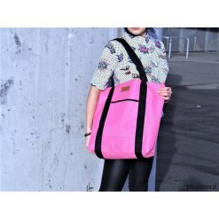 Duża torba Miss Szoperka 1 - pink. Różowe shopper bag damskie marki Pakamera, z tkaniny, duże. Za 189,00 zł.