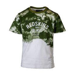 T-shirty chłopięce: Koszulka w kolorze biało-oliwkowym