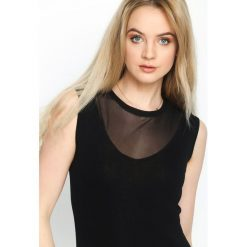 Sukienki hiszpanki: Czarna Sukienka Reticulate