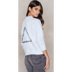 Bluzy damskie: NA-KD Trend Bluza More Self Love – White