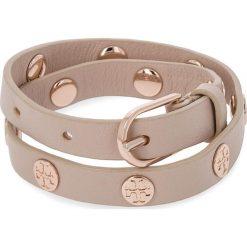 Bransoletka TORY BURCH - Double Wrap Logo Stud Bracelet 11165816 Light Oak/Rose Gold 252. Brązowe bransoletki męskie Tory Burch. Za 559,00 zł.