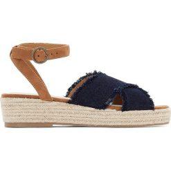 Rzymianki damskie: Sandały na koturnie ze sznurka, dla szerokiej stopy 38-45