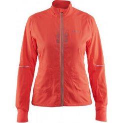 Craft Brilliant 2.0 Light Orange S. Pomarańczowe kurtki sportowe damskie marki Craft, s, z materiału, na fitness i siłownię. W wyprzedaży za 299,00 zł.
