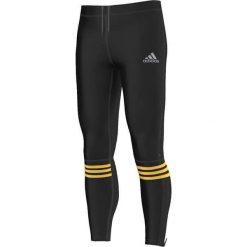 Bielizna męska: Adidas Legginsy Response Long Tights czarno-żółte r. S (AP5287)