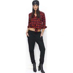 Spodnie dresowe damskie: Czarne Spodnie Dresowe Luźne z Kieszeniami