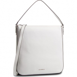 Torebka COCCINELLE - DQ0 Lulin Soft E1 DQ0 13 01 01 Blanche H10. Białe torebki klasyczne damskie Coccinelle, ze skóry, zdobione. Za 1149,90 zł.