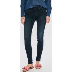 Pepe Jeans - Jeansy Lola. Niebieskie jeansy damskie rurki Pepe Jeans, z bawełny. W wyprzedaży za 299,90 zł.